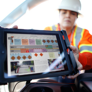 using a truck-mounted ipad in the field